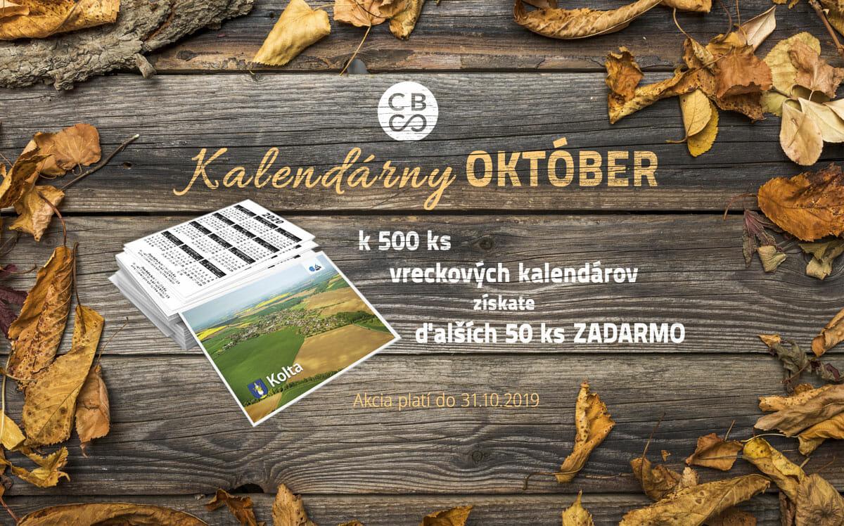Banner kalendárny október